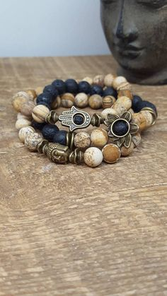 How to Make Cool Bracelets - 8 Quick & Easy Sample for Beginners Gemstone Bracelets, Gemstone Jewelry, Jewelry Bracelets, Boho Jewelry, Beaded Jewelry, Jewellery, Yoga Bracelet, Chakra Jewelry, Bead Jewelry