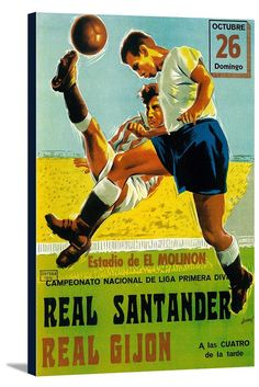 Canvas (Futbol - Vintage Promotion Poster)