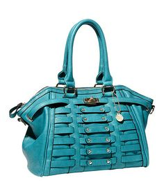 Take a look at this Turquoise Alexis Satchel by Big Buddha on #zulily today!