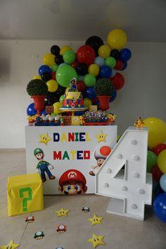 Mario Bros., Super Mario Bros, Birthday, Party, Ideas, Mario Birthday Party, Birthday Celebrations, Parties Kids, Birthdays
