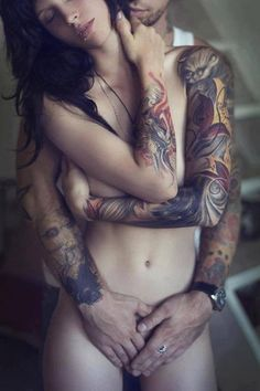 Remarkable, sexy nude tattooed couples