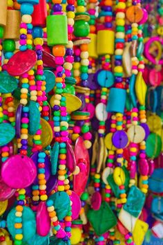 Coloured beads.: