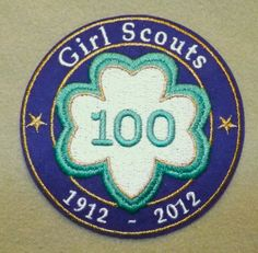 Girl Scout 100th Anniversary Trefoil patch