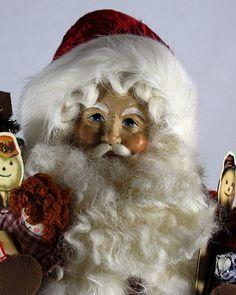 "Lynn Haney ""HO HO HO"" 18"" Christmas Santa Retired Style 1368 from 1998 | eBay"