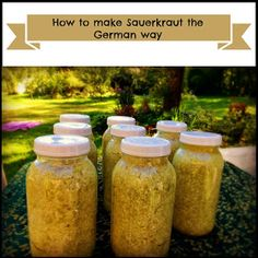 Marblemount Homestead: Home made Sauerkraut, and how I make it the German way