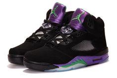 Air Jordan 5 V Retro A Black/Purple Mens shoes
