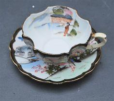 Vintage Ardalt Lenwile Occupied Japan Numbered Tea Cup and Saucer.