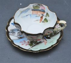 Vintage Ardalt Lenwile Occupied Japan Numbered Tea Cup and Saucer.