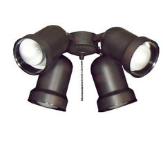TroposAir 463 Indoor Outdoor Spotlight Oil Rubbed Bronze Ceiling Fan Light-651 - The Home Depot