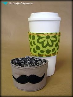The Crafted Sparrow: Coffee Cozy's - Perfect for you Starbucks lovers!