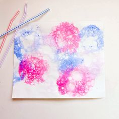 Bubble Paint | 25 Of The Best Toddler Crafts For LittleHands