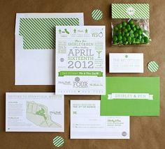 Printable Wedding Invitations by Bowarrowpaperco on Etsy