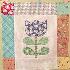 Bloom Sew Along Block 17 #iloverileyblake #fabricismyfun