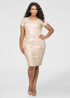 4e0d7380c7a1 Fitted Baroque Sequin Dress. Ashley Stewart DressesWhat Should I WearPlus  Size ...