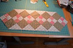 Magpie Quilts: Double Four Patch Table Runner Tutorial