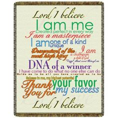 Lord I Believe Tapestry Throw  #yoga #blanket #healing #meditation #home #homedecor #decorating #reiki #spa #salon #healing #lord #believe