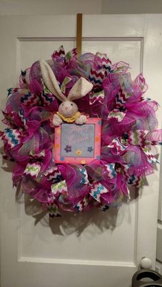 Check out this item in my Etsy shop https://www.etsy.com/listing/262885917/happy-easter-wreath-easter-wreath-easter