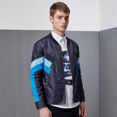 Casual Slim Fit Bomber Jacket For Men. Shop Now
