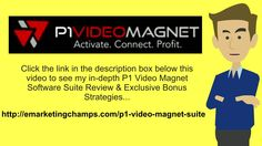 P1 Video Magnet Software Suite Review - https://www.youtube.com/watch?v=oHXi0rhYF8w - P1 Video Magnet Software Suite Bonus - Getting high positions in internet search engines might seem to be a job that is completely hopeless. Actually, you may ask you--a man with few resources and comparatively little money --can not out compete small, well-financed corporations as it pertains to website positioning.