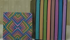 I like stripes, all kinds of stripes, different widths, different colors. I like to combine them with other shapes.     I am going to concen...