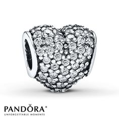 From PANDORA, this sterling silver Clear Pave Heart charm sparkles with clear cubic zirconias. This stunning charm will be the perfect addition to your loved ones PANDORA collection. Pandora Valentine Charms, Pandora Beads, Pandora Bracelet Charms, Pandora Jewelry, Pandora Pandora, Cheap Pandora, Pandora Rings, Pandora Collection, Nordstrom