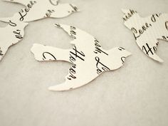 Personalized Paper Confetti // Vintage Wedding Custom by BookCraft