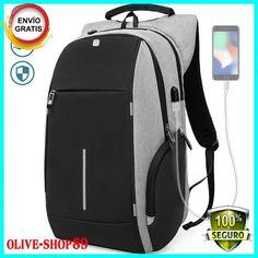 4b4adb2d13e Mochila Contra Ladrones Para Laptop Con Puerto USB Contra Agua Ligera Y  Segura  fashion