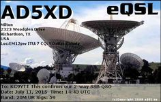 QSL Card From AD5XD