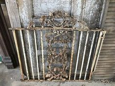 ANTIQUE CAST IRON Fence Window Gate Old Architectural Hardware ACORN - $300.00 | PicClick