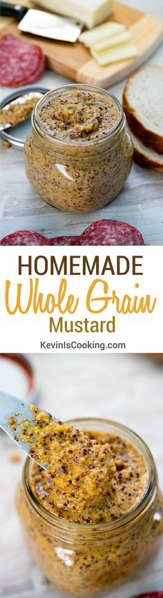 Delicious homemade grainy brown mustard is easy to make. Dress up your sandwiches and brats, or spread on slices of cheese. Yum!
