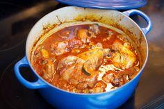 Chicken, Zucchini & Portobello Mushrooms in a Chianti Red Wine Sauce | Carrie's Experimental Kitchen