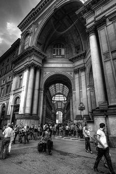 Using wide-angle lens you can create some very nice perspective: http://hdrphotographer.blogspot.com/2012/06/black-white-photo-from-milan.html