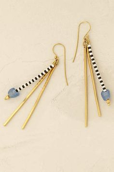 Anthropologie EU Kisumu Drop Earrings. We adore the striking combination of delicate and bold in these classic earrings, perfect for pairing with little black dresses and undone topknots.