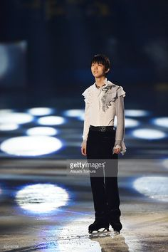 Yuzuru Hanyu of Japan performs his routine during the NHK Special Figure Skating Exhibition at the Morioka Ice Arena on January 9, 2016 in Morioka, Japan.