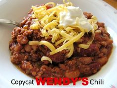 Try making your own version of Wendys chili. | 15 Copycat RestaurantRecipes