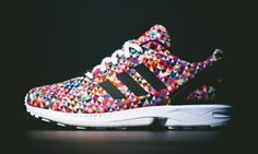 """multi"" colorway.. multi kinds of awesome   adidas Originals ZX Flux"