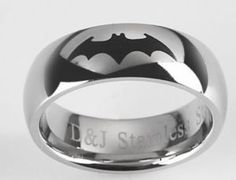 I hope my future husband loves batman....I wanna get him this wedding ring