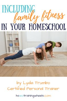 As any mother who wishes to make changes in her health knows, exercising with children running about is very challenging. Learn from a certified personal trainer how to add family fitness to your homeschool routine! #homeschooling #family #fitness