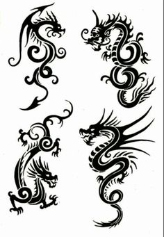 Cool chinese dragon tattoos. I would think these would be cool along the ribs.