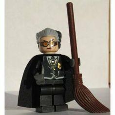 Madam Hooch (Rolanda) with Broom   LEGO Harry Potter Minifigure   Amazon.com