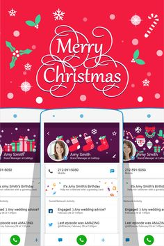 Merry Christmas everyone :) Our beautiful Christmas cover is now free of charge!!  Get CallApp now - http://callapp.com/se