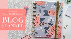 Paper Trail Planners | Blogger Planner | Customizable Planners - My Drifting a Desk. Calling all my blogger babes! We have a new blogger content calendar and planner to help you organize and plan your blog & biz.