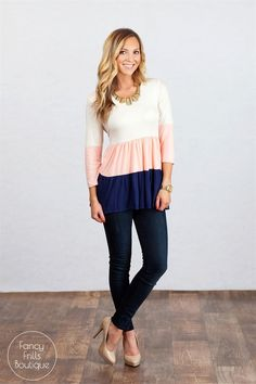 This dolman top is the perfect addition to your wardrobe! Wear it with your favorite leggings, jeans, or comfy sweat pants…It goes with EVERYTHING and is the perfect fit for all body types.It's the perfect go-to basic!The 3/4 length sleeve is perfect for winter layering, and will be the perfect start to your spring wardrobe worn on it's own!