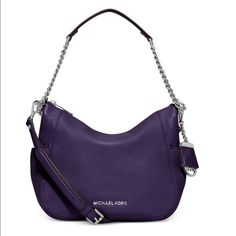 Michael Kors Convertible Shoulder Bag Brand new with tags! Color: Purple. Soft Venus leather. Adjustable shoulder strap. Top zip closure. Comes with dust bag. MICHAEL Michael Kors Bags Shoulder Bags