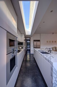 Adorable Simplistic Decorations Ideas: Awesome Galley Kitchen Design Open Roof Modern Home In Australia