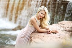 www.devonjimagery.com Senior picture ideas! North Texas senior portrait photographer, water, waterfall, stream