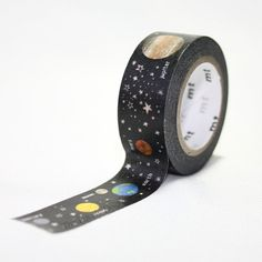 MT for Kids Planets Washi Tape - Japanese Washi Masking Tape - planet solar system, galaxy, universe, sun, stars, rocket, spaceship, earth