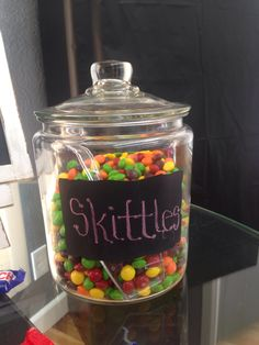 Candy Jar Skittles Decoration