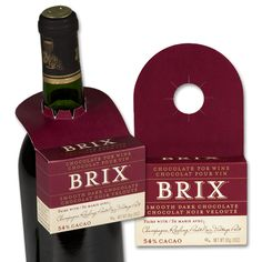 Brix Smooth Dark Chocolate. Chocolate for Wine. Champagne. Wine Pairings. Entertaining. Gift Ideas. Dessert.