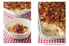 White Cheddar Whipped Potatoes with Bacon Pancetta Crust